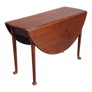 19th C. Mahogany Drop Leaf Table For Sale