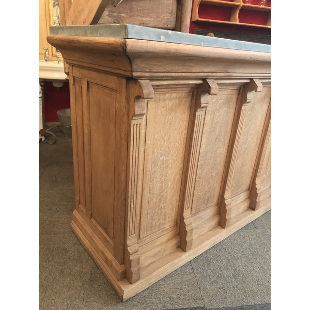 French 1910s French Provincial Montmartre Oak Cafe' Bar For Sale - Image 3 of 11