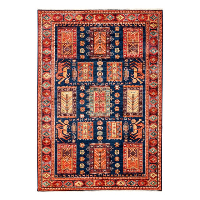 "Contemporary Traditional Hand-Knotted Rug - 6' X 8'7"" - Image 1 of 3"