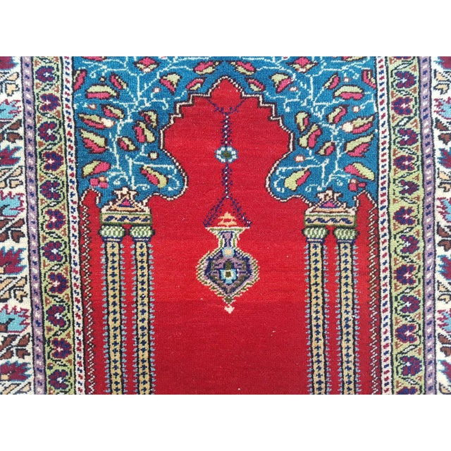 VINTAGE HANDWOVEN TURKISH CENTRAL ANATOLIAN KAYSERI HANDKNOTTED RUG 3' X 4'7'' / 92x139cm Hand woven with high quality...