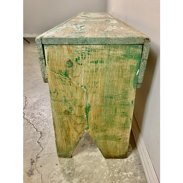 Paint 19th C. Swedish Painted Work Style Bench For Sale - Image 7 of 11