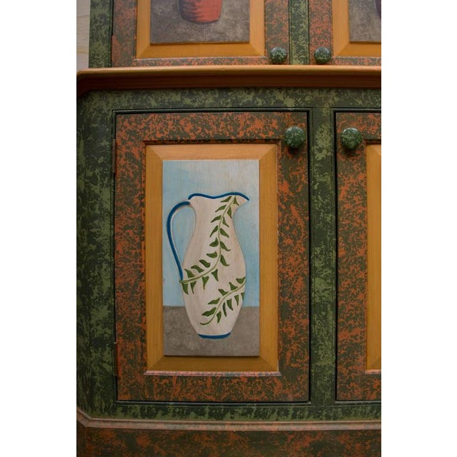 Whimsical Hand-Painted Solarium or Garden Room Cabinet - Image 5 of 10