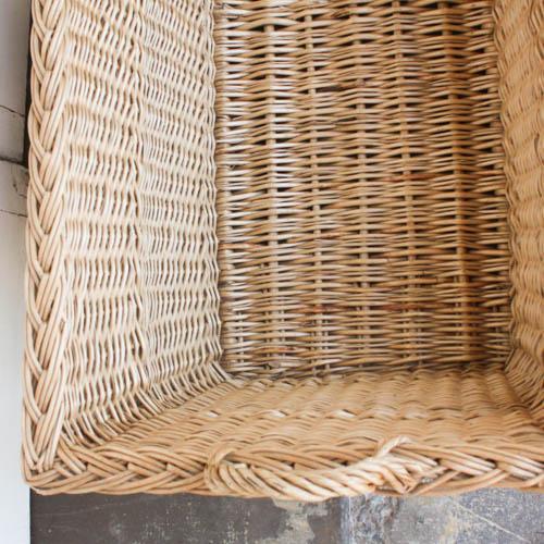 Vintage French Laundry Basket - Image 3 of 8