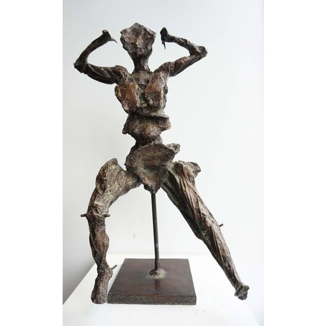 Unique Bronze Sculpture by Jean-Robert Ipoustéguy - Personnage en Mouvement For Sale - Image 6 of 6