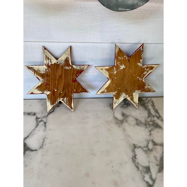 Antique Farmhouse Star Wall Brackets - a Pair For Sale In New York - Image 6 of 8