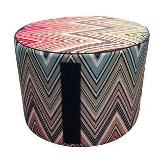MissoniHome Kew Outdoor Cylindrical Pouf