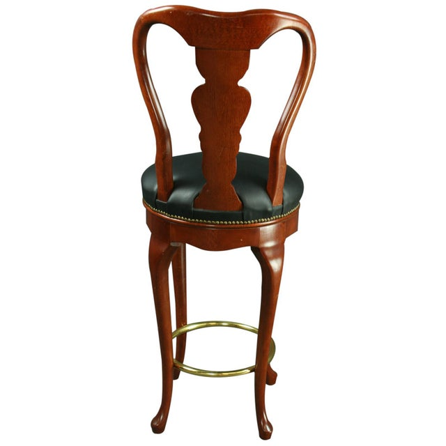 2000 - 2009 Queen Anne New Bar Stools - Pair For Sale - Image 5 of 6