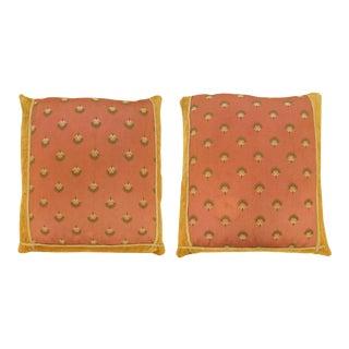 Vintage Art Deco European Textile Pillows - a Pair For Sale