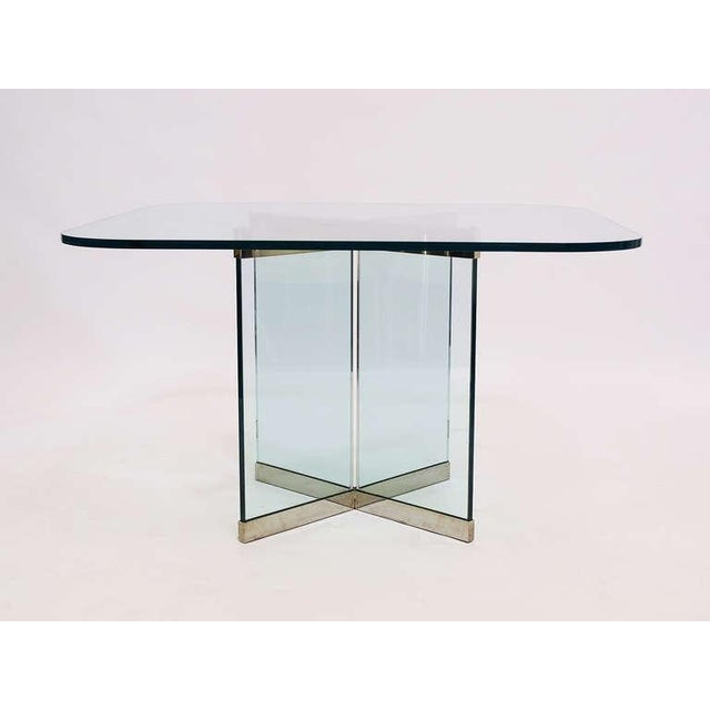 Glass & Chrome Dining Table by Leon Rosen for Pace Collection - Image 9 of 10