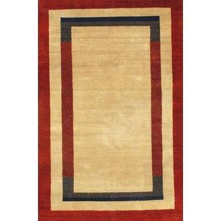 Pasargad N Y Persian Gabbeh Design Hand-Spun Wool Rug - 6' X 9'