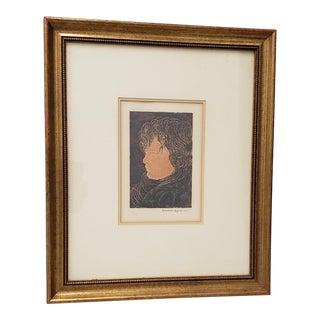 """Beniamino Benvenuto Bufano (1898-1970) """"Tete D' Infant"""" Lithograph C.1970 For Sale"""