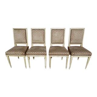Vintage French Regency Louis XVI Dining Chairs - Set of 4