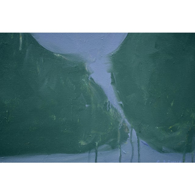 "Stephen Remick Stephen Remick ""Evening Descending"" Contemporary Abstract Painting For Sale - Image 4 of 12"