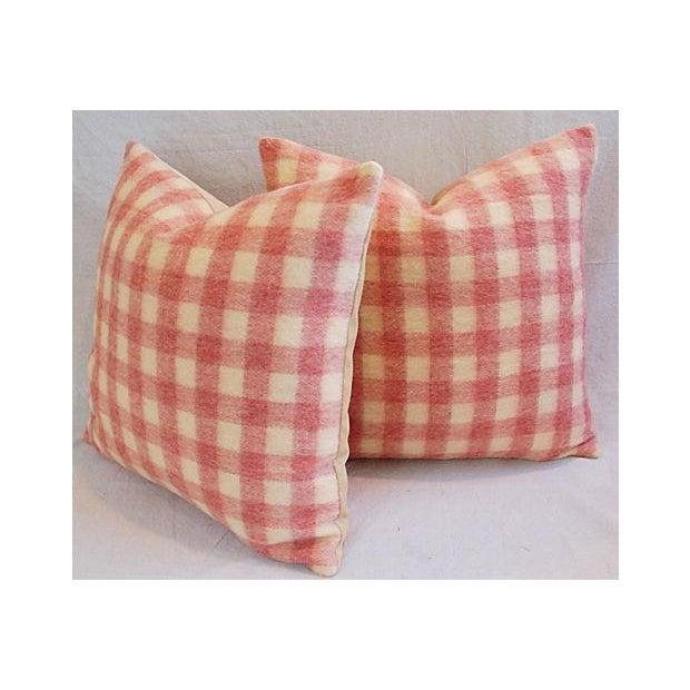 Custom Scottish Plaid Virgin Wool Pillows - A Pair - Image 6 of 8