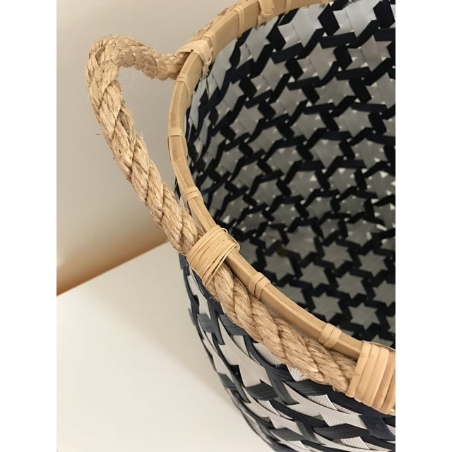 Anthropologie Starry Night Woven Basket - Image 5 of 9