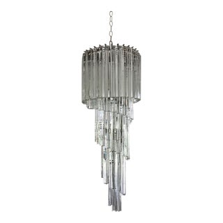 Venini Spiral Chandelier For Sale