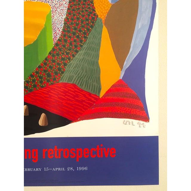 Vintage 1996 David Hockney Original Lithograph Lacma Exhibition Pop Art Poster For Sale - Image 9 of 11