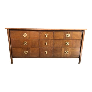 Drexel Mahogany Triple Dresser Vintage For Sale