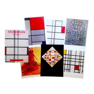 Piet Mondrian Rare Vintage 1994 Lithograph Print Modernist Posters Folio - Set of 6