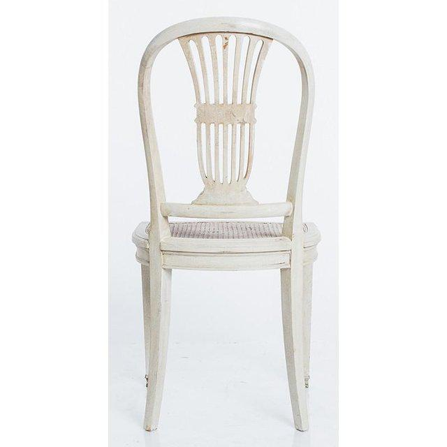 Early 20th Century Gustavian Wheat Sheaf Swedish Dining Chairs - Set of 6 For Sale - Image 5 of 8