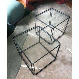 Post Modern Max Sauze Isosceles Iron Side Tables - a Pair Preview
