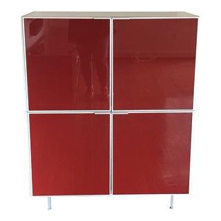 1980s Bontempi 4 Door Red Cabinet For Sale
