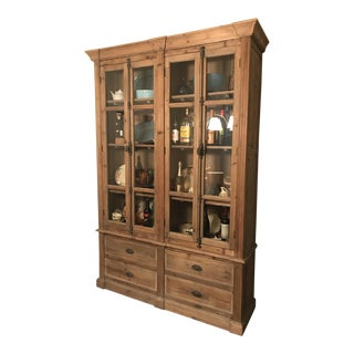 19th C. European Solid Wood Hutch