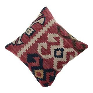 Antique Caucasian Kuba Kilim Pillow Cover