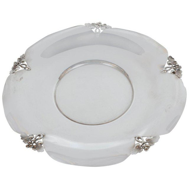 Mid-Century Sterling Silver Decorative Dish With Foliate Tray by j.e. Caldwell Co For Sale - Image 9 of 9