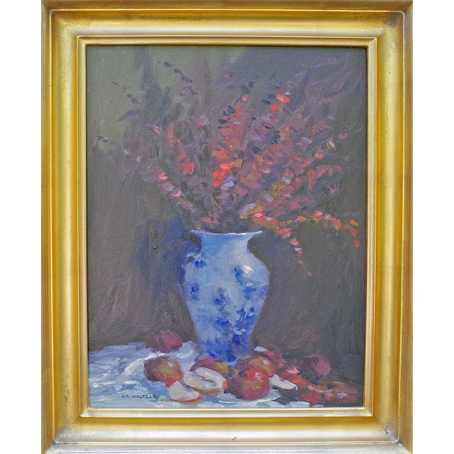 Bob Waltsak Autumn Floral Still Life Oil Painting - Image 2 of 4