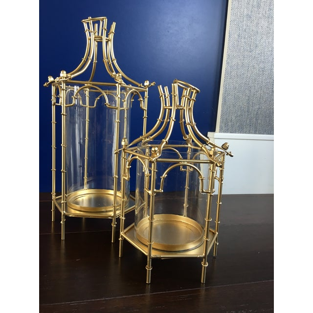 Gold Finish Pagoda Lantern For Sale In Dallas - Image 6 of 11