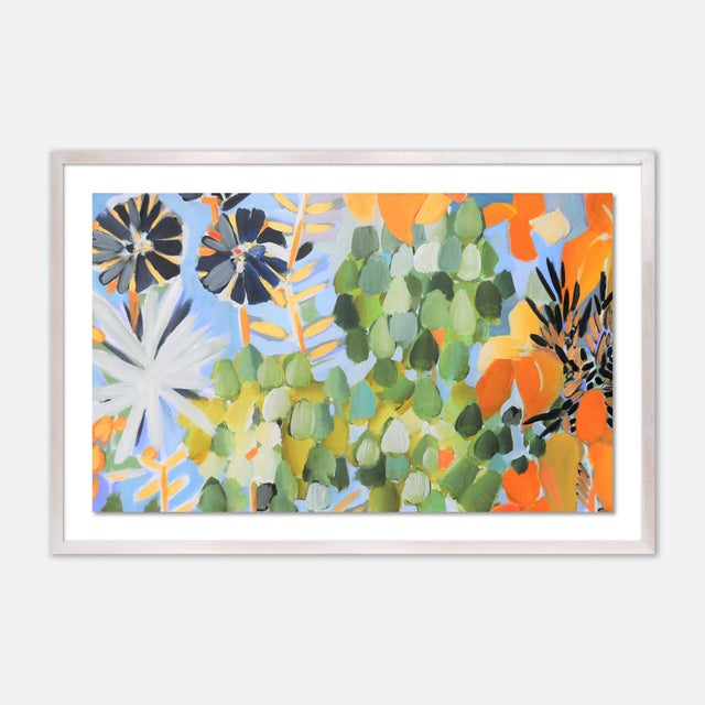 Contemporary St Tropez 1 by Lulu DK in White Wash Framed Paper, Large Art Print For Sale - Image 3 of 3