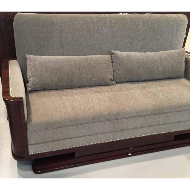 Circa 1930 French Art Deco Macassar Sofa For Sale - Image 4 of 10
