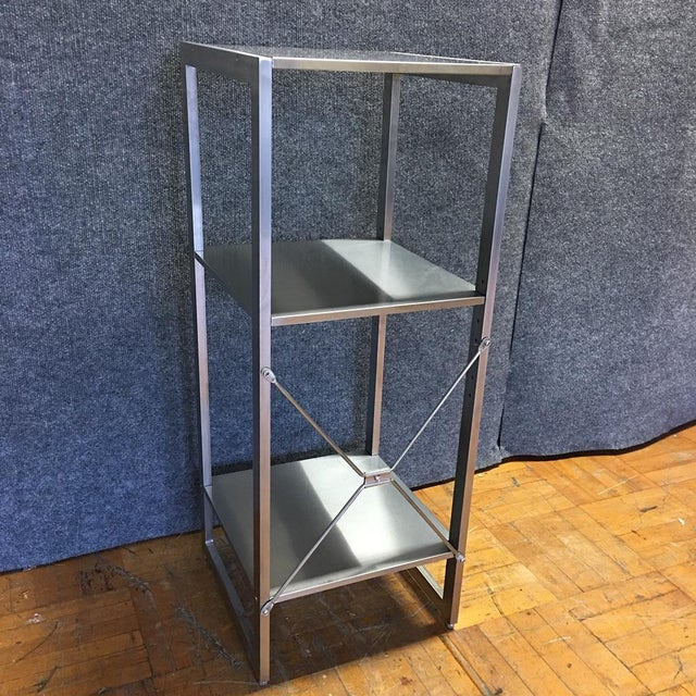 Sleek Silver Metal Shelf - Image 8 of 8