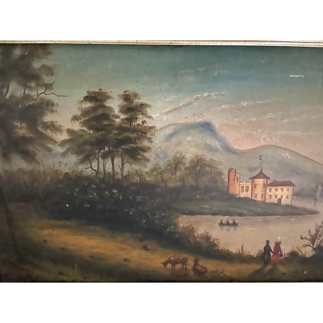American Antique Oil Painting of Landscape For Sale - Image 3 of 13