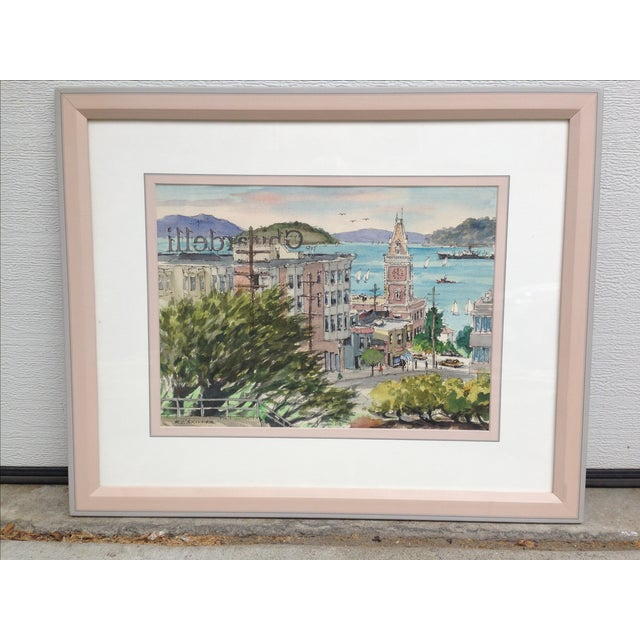 R. J. Skinner San Francisco Watercolor Painting - Image 2 of 4