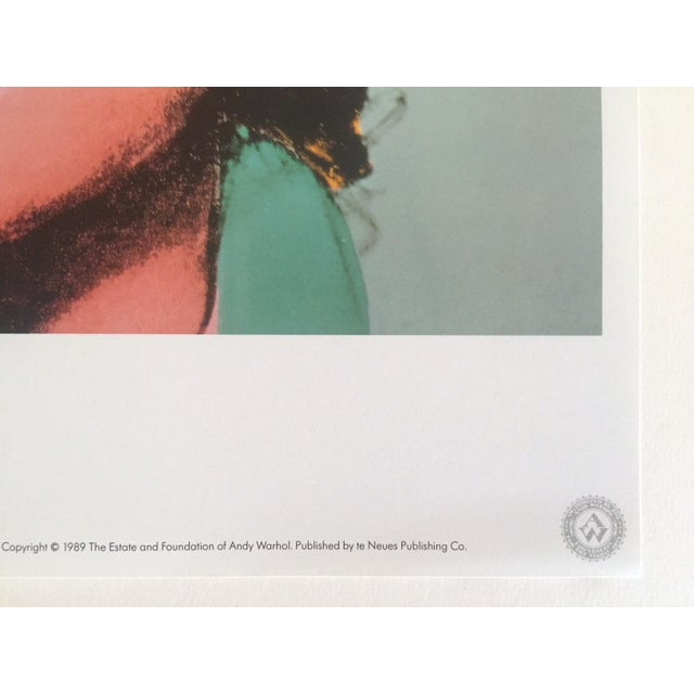 """Black Andy Warhol Estate Rare Vintage 1989 Collector's Pop Art Lithograph Print """" Marilyn """" 1964 For Sale - Image 8 of 10"""