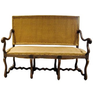 19th Century French Louis XIII Style Os de Mouton Settee For Sale