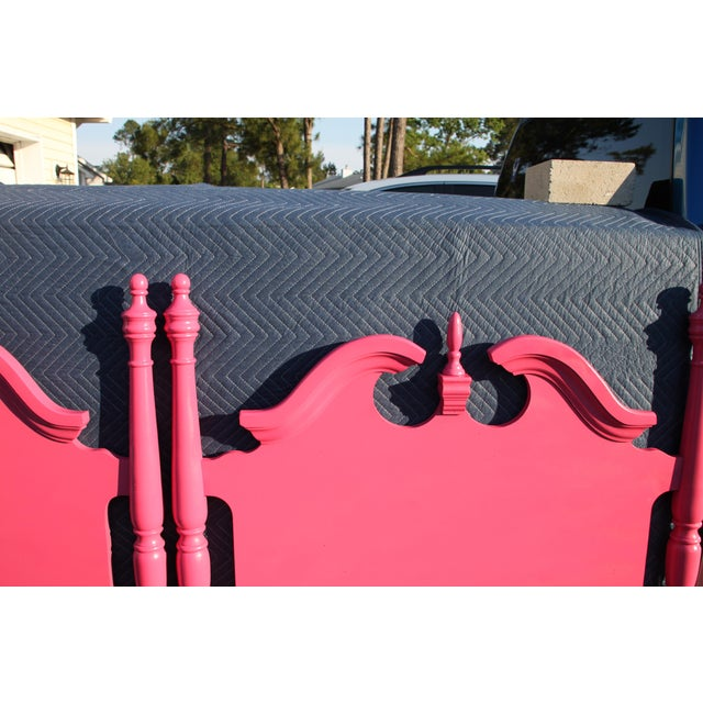 Hollywood Regency / Neo Classic / Geogian Glam Gloss Pink Twin Headboards - a Pair For Sale - Image 10 of 12