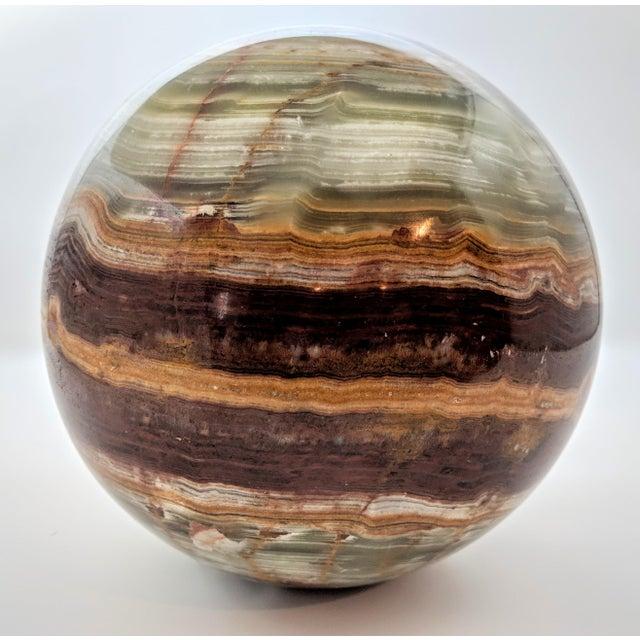 Gemstone Vintage Solid Onyx Sphere For Sale - Image 7 of 8