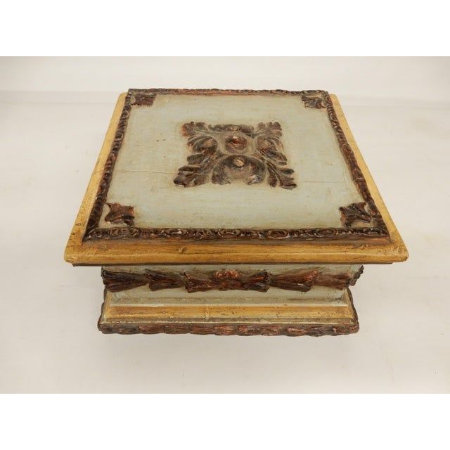 19th C. Italian Painted Box For Sale In New Orleans - Image 6 of 6