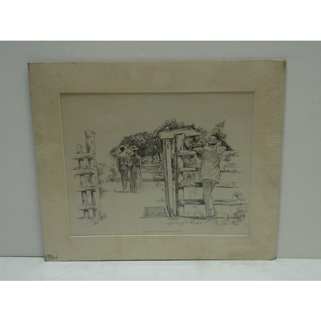 American C1899 Print Tis Better to Have Loved and Lost J. Campbell Phillips For Sale - Image 3 of 5