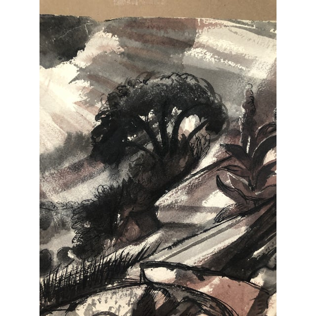 Black Oriskany Valley, New York Landscape by William Palmer, 1947 For Sale - Image 8 of 10