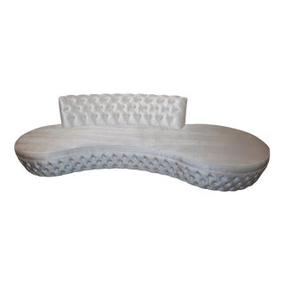 White H-Studio by Shlomi Haziza Sophia Sofa With Swarovski Crystals Accents