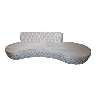 White H-Studio by Shlomi Haziza Sophia Sofa With Swarovski Crystals Accents For Sale