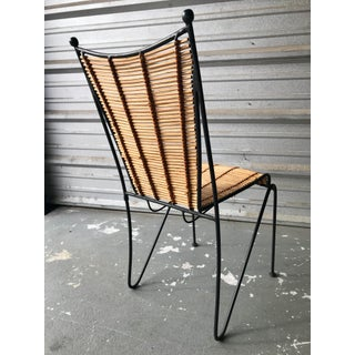 Ficks & Reed Mid-Century Modern Bamboo & Rod Iron Dining Chair Preview