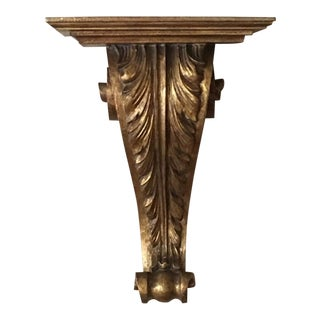 Large Wooden Scrolled Carved Gilt Shelf