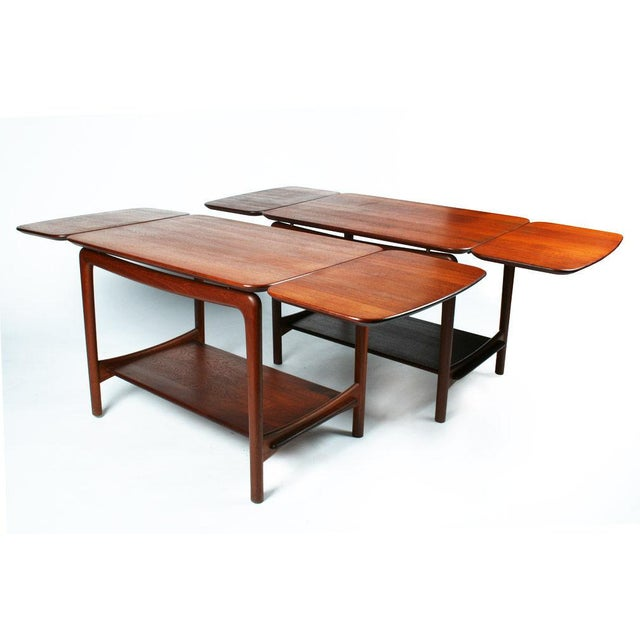 Peter Hvidt Pair of Drop Leaf Side Tables by Peter Hvidt For Sale - Image 4 of 10