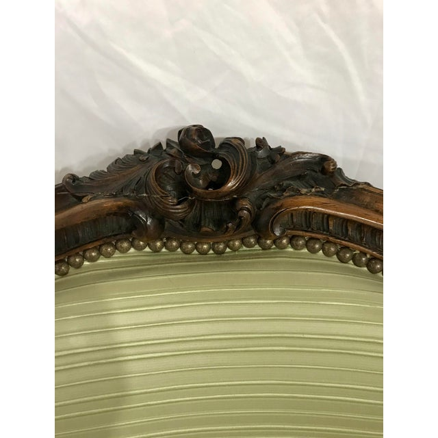 Louis XV Style Walnut Bergers a Pair For Sale - Image 6 of 10