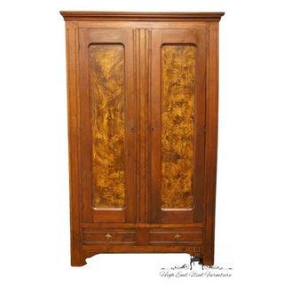 1920's Vintage Burled Wood Door Panels Wardrobe / Armoire Preview
